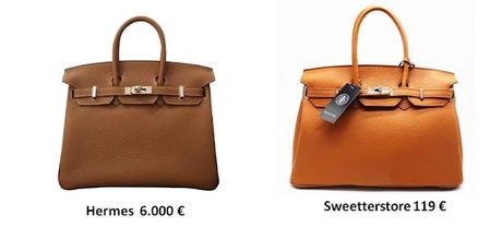 Imitación de bolso de Hermes