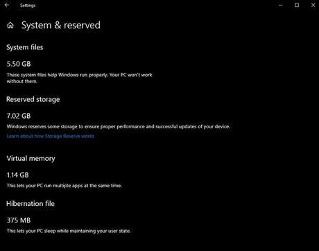 Almacenamiento reservado: La nueva característica de Windows 10
