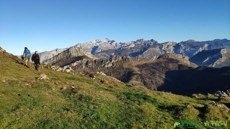 Llegando a la Majada Cerboes desde el Pico Pierzu