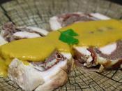 Roti pavo relleno carne picada, jamón queso