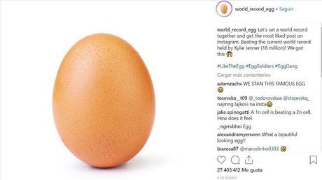 Un Huevo es la foto con mas Me Gusta en Instagram