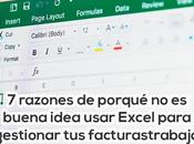 razones para usar Excel como programa hacer facturas