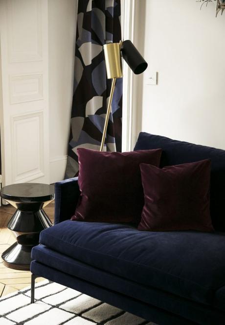 dark velvet cushion