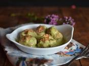 Albóndigas pollo salsa calabacín curry