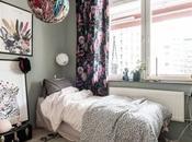 Dormitorio infantil sencillo acogedor estampados