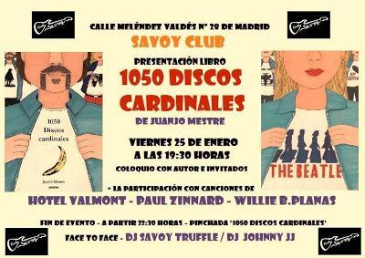 1050 discos cardinales será presentado en Madrid este viernes 25 de enero
