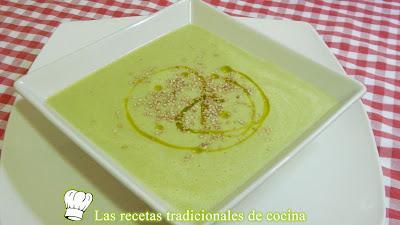 Receta fácil de crema de judias verdes con quesitos