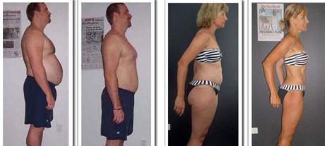 Marido y mujer perdiendo peso juntos