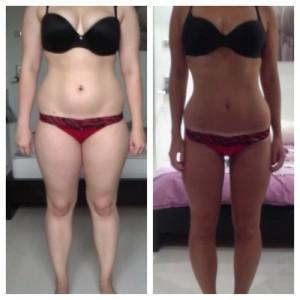 transformación mujer con factor quema grasa