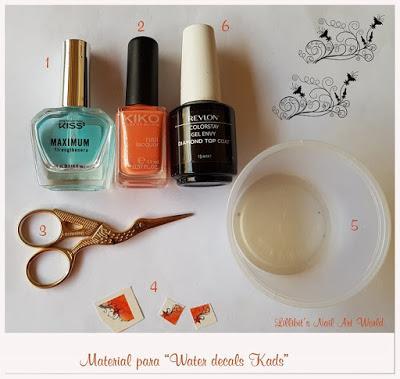Manicura con water decals diseño French de Kads Professional Nail Art