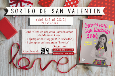 SORTEO DE SAN VALENTÍN: Creo en una cosa llamada amor - Maurene Goo.