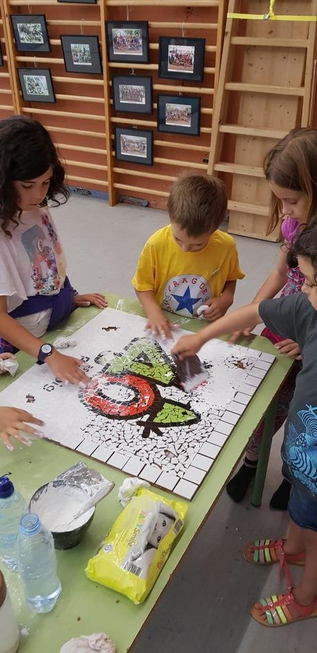 Mosaico en la escuela