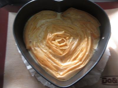 Ruffle milk pie Thermomix