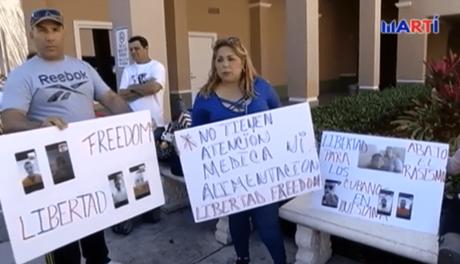 Familiares de cubanos detenidos por inmigración exigen libertad para sus parientes