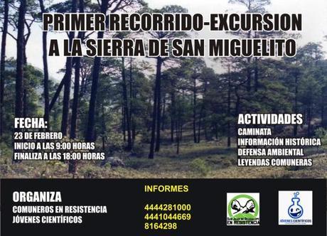 Invitan a primer recorrido-excursión a la Sierra de San Miguelito