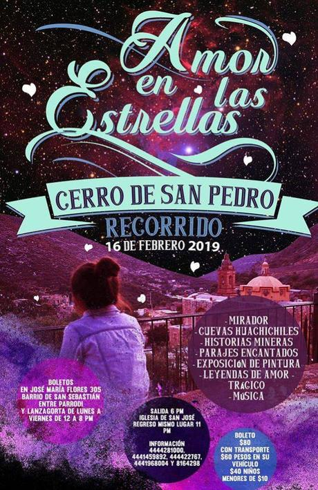 Invitan al recorrido amor en las estrellas en Cerro de San Pedro