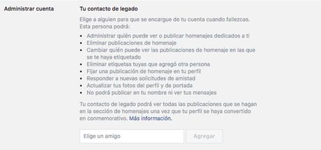 Qué es un contacto de legado en Facebook y porqué deberías tener el tuyo
