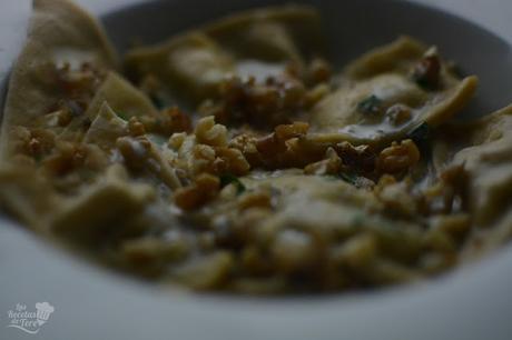 Raviolis con queso azul nueces y manzana tererecetas 05