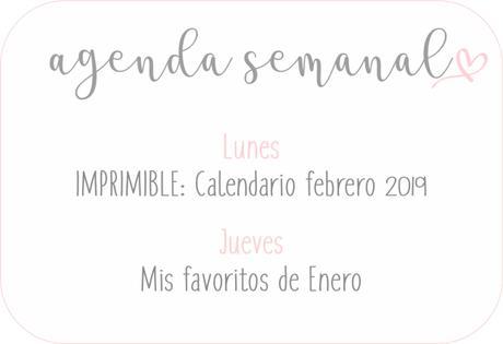 Agenda Semanal 28/01 - 3/02