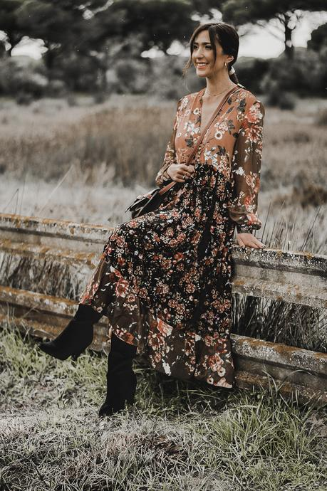 TENDENCIAS PRIMAVERA 2019: BOHO FLORAL DRESS + 7 DÍAS 7 LOOKS