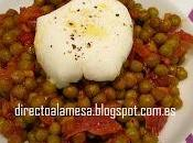 Guisantes jamón huevo pochè