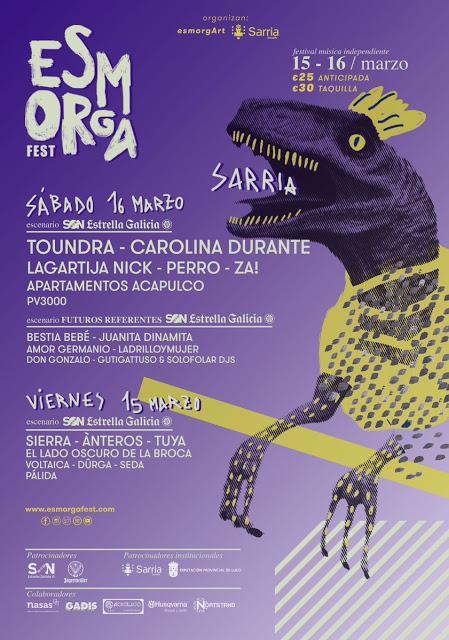Toundra, Carolina Durante y Lagartija Nick encabezan el Esmorga Fest 2019