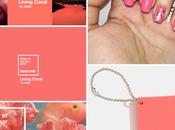 Diseño uñas coral, color Pantone 2019