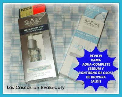 Review Gama Aqua-Complete (Sérum y contorno de ojos) de BIOCURA de Supermercados Aldi