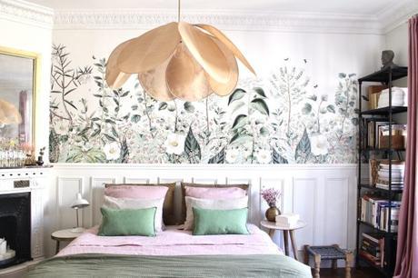 mural primaveral para el dormitorio