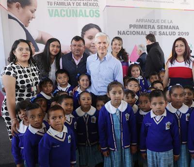 INICIA ALFREDO DEL MAZO PRIMERA SEMANA NACIONAL DE SALUD 2019 EN EL EDOMÉX