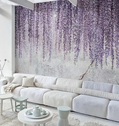 mural lilas