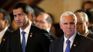 Pence cruzó reproches con Guaidó en la cumbre de Bogotá