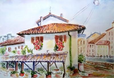 Antiguos lavaderos  junto al Naviglio Grande