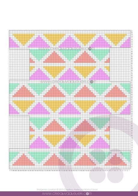 Patrón de Neceser CUBE rectangular. Tamaño 10 x 20 cm.