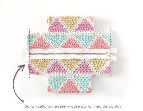Cómo hacer un neceser tapestry a crochet de form cuadrada