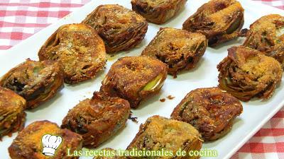 Receta fácil de alcachofas adobadas y muy crujientes