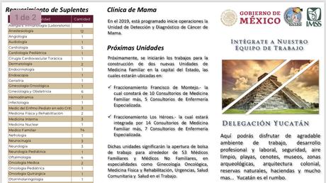 Draft de plazas del imss 2019 para médicos especialistas