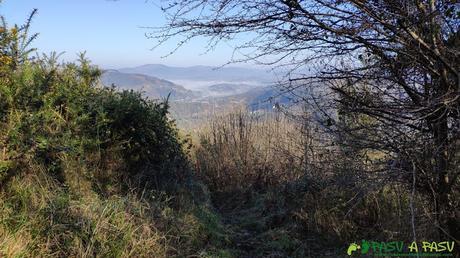 Vista hacia Trubia desde la Ruta de la Salamandra