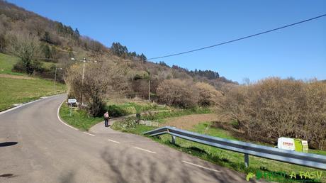 Desvío hacia el Guayoso en La Vallina