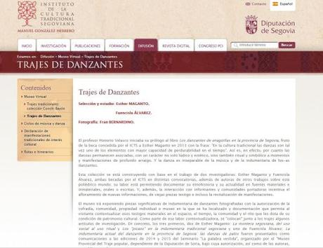 Museo Virtual IGH: trajes de danzantes de Segovia