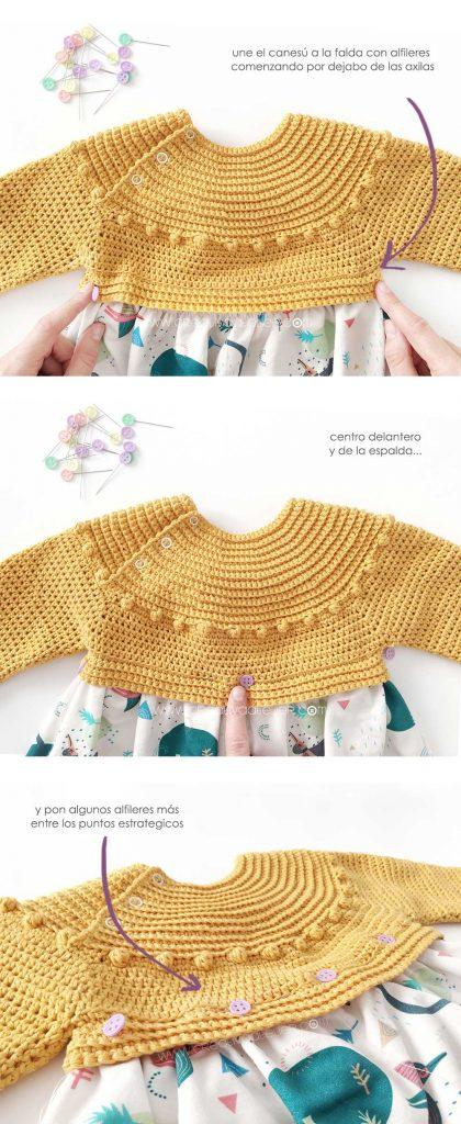Cómo hacer un vestido de crochet y tela DIY- Tutorial y Patrón