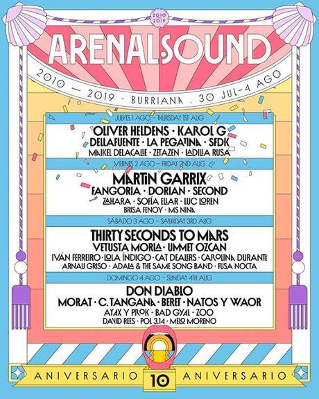 Arenal Sound 2019 anuncia a Morat, Ummet Ozcan, Dorian, Cat Dealers, Second, Bad Gyal...