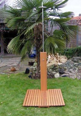 duchas de jardin de madera