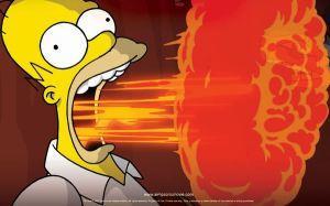 Bart Simpson: Ejemplo a no seguir si queremos tener un estómago sano.