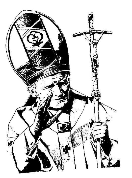 Album de imágenes para colorear del beato Juan Pablo II - Paperblog
