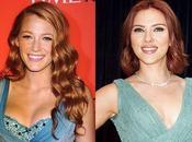 Blake Lively Scarlett Johansson: Rojo pasión