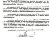 CARTA PRESIDENCIA GOBIERNO