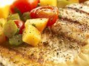 Filete salmón salsa persimón
