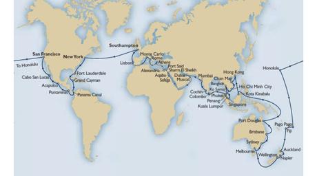 vuelta al mundo en crucero