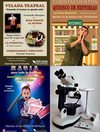 Agenda de actividades en el Centro Cultural Biblioteca de Montequinto del 11 al 17 de marzo